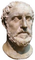buste de Thucydide, né vers 460 av. J.-C, mort entre 400 av. J.-C. et 395 av. J.-C