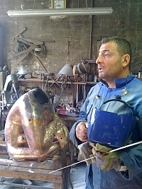 Djamel Mérabet, chef d'atelier, Fonderie d'art Godard, 5 mai 2011