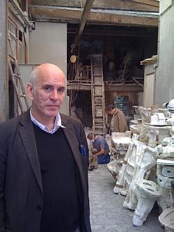 Pierre Edouard, atelier fonderie d'art Godard, 5 mai 2011