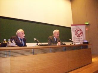 Ludwik Flaszen et Marc Fumaroli, de l'Académie française au Collège de France
