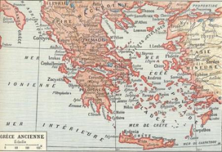 Thasos est à l'extrême nord de la mer Egée, en face de la côte thrace