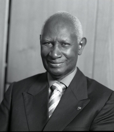 Abdou Diouf, secrétaire général de l'Organisation internationale de la francophonie (OIF)