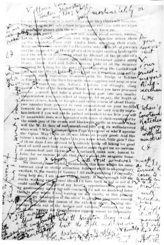 Page d'Ulysse de James Joyce avec corrections.
