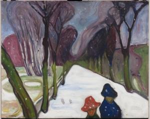 Neige fraîche sur l'avenue, 1906 Huile sur toile 80 x 100 cm