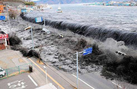 Tsunami à Fukushima au Japon en mars 2011