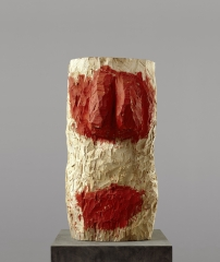 Männlicher Torso \/ Torse masculin 1993 Tilleul et dispersion, 155 x 77 x 79 cm