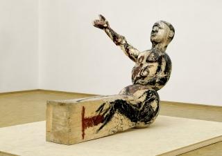 Modell für eine Skulptur \/ Modèle pour une sculpture, 1979 – 1980 Tilleul et tempera, 178 x 147 x 244 cm