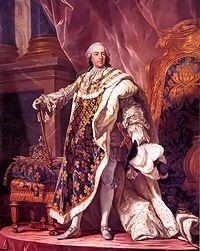 Portrait de Louis XV en costume de sacre par Louis-Michel van Loo