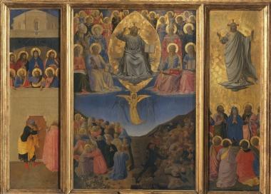 Fra Angelico, Triptyque du Jugement dernier, tempera sur bois, Inv. nn.395 - 396 – 397, 73 x 105 cm,