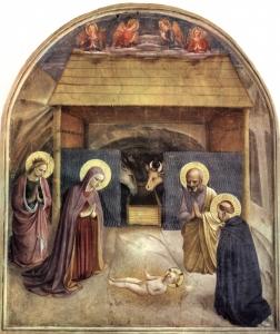 La Nativité de Fra Angelico (vers 1400-1455), fresque de la cellule 5 du Couvent San Marco à Florence