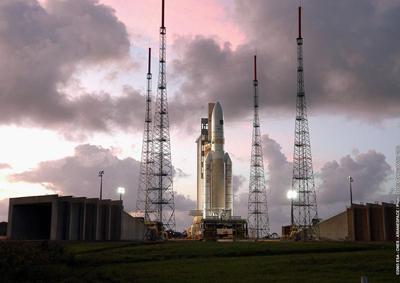 Lancement d'Ariane 5, 12 février 2005, Kourou.