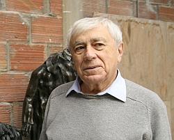 Claude Abeille dans son atelier, novembre 2011