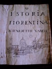 """Istoria fiorentina"" de Benedetto Varchi, manuscrit du XVIe siècle sur Florence"