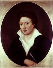 Portrait de Percy Bysshe Shelley par Amelia Curran (1819)