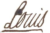 La signature de Louis XV