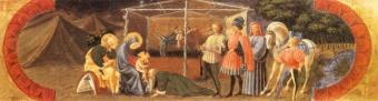 L'Adoration des mages de Paolo Ucello (1397-1475) vers 1432-38. Tempera sur bois, Florence, Arcidiocesi di Firenze, Museo  Diocesano di Santo Stefano al Ponte