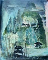 Zao Wou-ki: Paysage de montagne