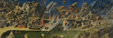 Fra Angelico (1387-1455) Thébaïde. Ces panoramas historiés où l'on retrouve toutes les figures de l'érémitisme chrétien, d'Orient ou d'Occident