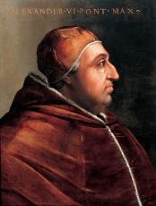Portrait du pape Alexandre VI, Rodrigo Borgia