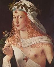 Portrait de femme par Bartolomeo Veneto (le tableau est traditionnellement considéré comme représentant Lucrèce Borgia).