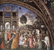 Détails de la Dispute de Sainte Catherine (entre 1492-1494) par Pinturicchio