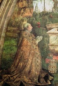 Le pape Alexandre VI, fresque de Pinturicchio, 1492-1495.