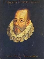 Miguel de Cervantès, Portrait imaginaire de Cervantes (il n'existe aucun portait authentifié)
