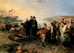 L'Embarquement à Gênes du général Giuseppe Garibaldi pour la Sicile