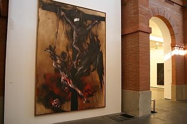 """Toiles de Vladimir Velickovic, exposition """"Vladimir Velickovic, les versants du silence"""", Toulouse, Les Abattoirs, 2011"""