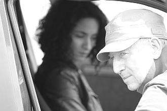Régis Wargnier et Rachida Brakni, sur le tournage de  La Ligne droite, 2011