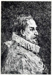 Miguel de Cervantès par G. Gómez Terraza y Aliena (1877)