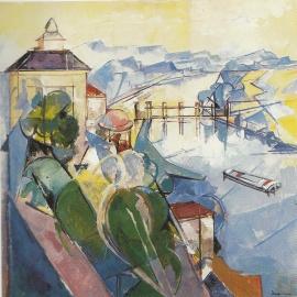 """Jacques Despierre, """"Boucle de la Seine"""", 1980, huile sur toile, 100 X 100"""