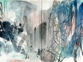 Chu Teh-Chun,  Inspirations hivernales, vers 1980