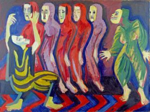 Ernst Ludwig Kirchner, Totentanz der Mary Wigman, 1926-1928