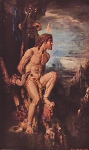 Prométhée de Gustave Moreau, de l'Académie des beaux-arts