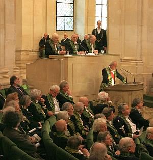 Cérémonie d'installation de Régis Wargnier au sein de l'Académie des beaux-arts, 1er février 2012