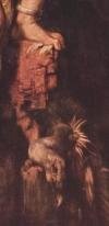 Détails du pied de Prométhée écrasant un aigle mort