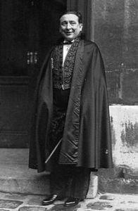 Pierre BENOIT (1886-1962) lors de sa réception à l'Académie française en 1932