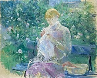 Berthe Morisot, Pasie cousant dans le jardin, 1881-1882 – Huile sur toile 81 x 100 cm – Musée des beaux-arts, Pau
