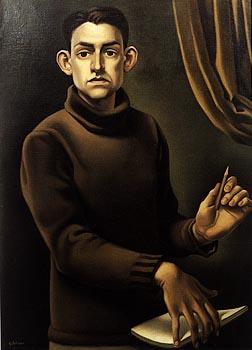 Autoportrait du peintre français Georges Rohner (1913-2000), membre de l'Académie des beaux-arts