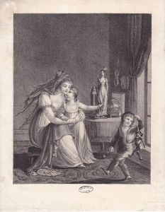 Image traditionnelle de la mère avec ses enfants