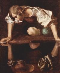 Tableau Narcisse, peint vers 1597-1599 par Le Caravage