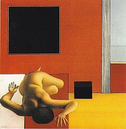 Rohner, Le carré noir, huile sur toile, 1970