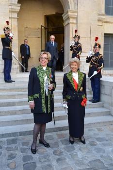 Danièle Sallenave, de l'Académie française et Hélène Carrère d'Encausse, secrétaire perpétuelle de l'Académie française