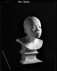 Pygmy, (Ota Benga), buste en plâtre, Etats-Unis, 1906