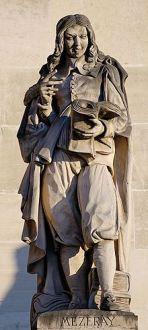 Mézeray par Louis-Joseph Daumas, cour Napoléon du palais du Louvre.