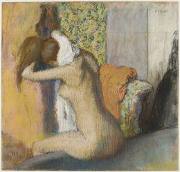 Après le bain, femme nue s'essuyant la nuque, 1895-1898