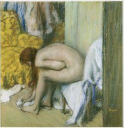 Après le bain, une femme s'essuyant les pieds, 1886