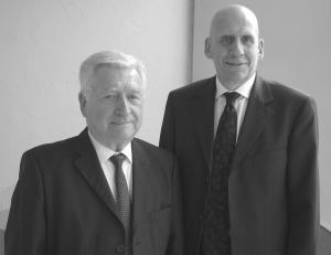 Marc Chambault, membre du comité exécutif de l'ADAE et Daniel Corfmat, président de l'ADAE
