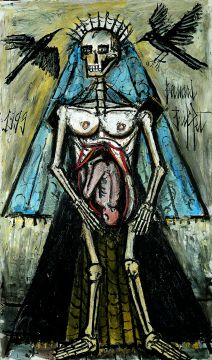 La mort 5, 1999, huile sur toile, 195 x 114 cm. Donation Virginie, Danielle et Nicolas Buffet au Musée d'Art moderne de la ville de Paris 2011